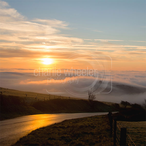 Clouds Surround St Catherine's Chapel - greeting card