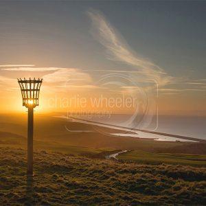Lighting the Beacon, Abbotsbury - greeting card